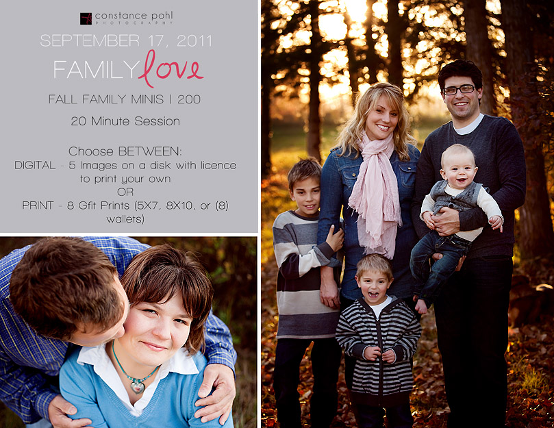 Edmonton Family Photographer Fall Mini Sessions